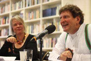Sabine Zaplin und Anton G. Leitner. Foto: Jan-Eike Hornauer