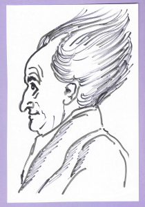 J. W. v. Goethe. Karikatur von Alfons Schweiggert