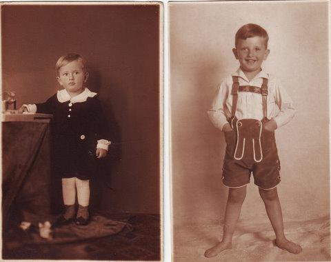 Tuvia Rübner als Junge in Preßburg