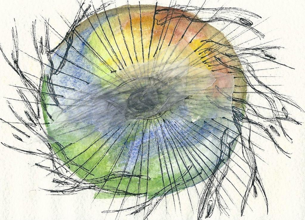 Illustration von Elisabeth Süß-Schwend zu »Schaukel« von Christine Langer
