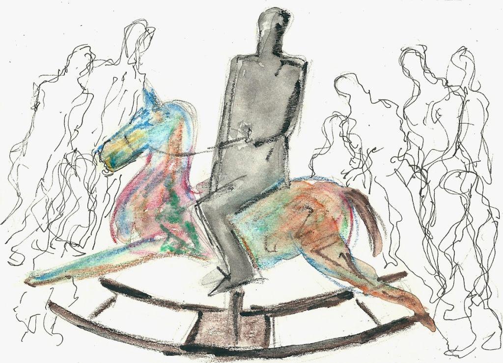 Illustration von Elisabeth Süß-Schwend zu »Das Schaukelpferd« von Johannes Kühn