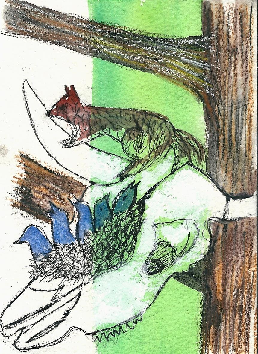 Illustration von Elisabeth Süß-Schwend zu »Toter Lebensort« von Siegfried Schüller