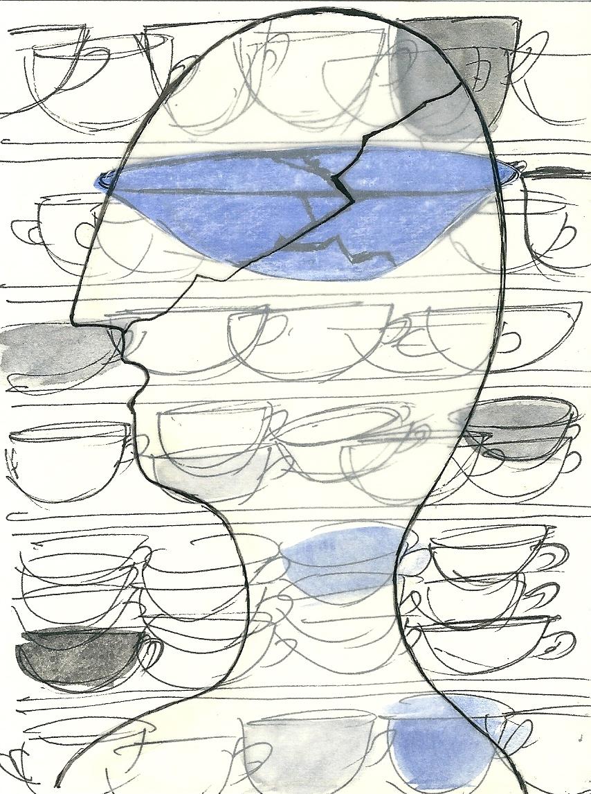 Illustration von Elisabeth Süß-Schwend zu »Aufgeräumt« von Melanie Arzenheimer