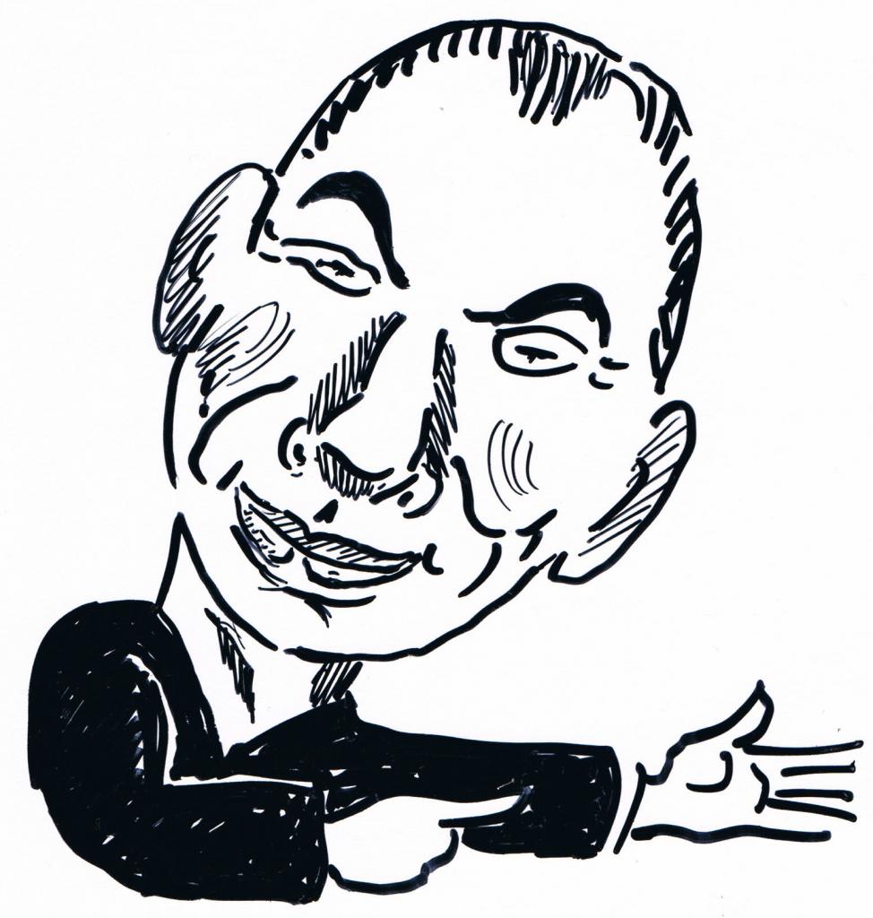 Fred Endrikat (Zeichnung: Alfons Schweiggert)