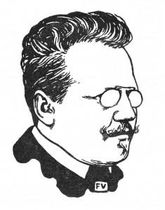 Otto Julius Bierbaum, Zeichnung von Felix Valloton (1897)