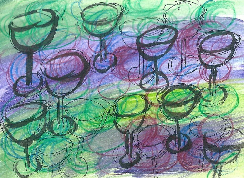 Illustration von Elisabeth Süß-Schwend zu »Einen Wein beschreiben« von Timo Brunke