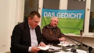 Ulrich Beck und Urich Karlkurt. Foto: DAS GEDICHT