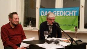 Maik Lippert und Georg Maria Roers. Foto: DAS GEDICHT