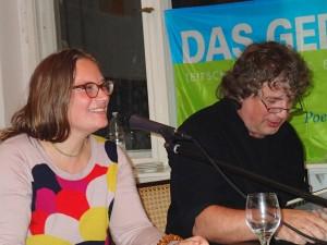 Tanja Dückers und Hellmuth Opitz. Foto: DAS GEDICHT