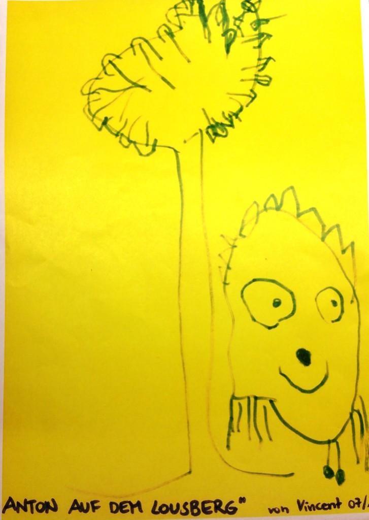 »Anton auf dem Lousberg«, gezeichnet von Vincent