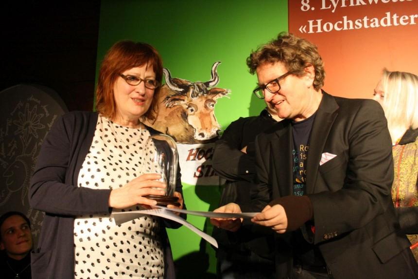 Jurypreis Der Lyrikstier 2016: Babette Werth (Berlin; Babette Werth (Berlin; mit Preisstifter Anton G. Leitner)