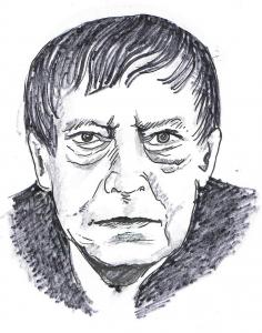 Eugen Roth. Zeichnung: Alfons Schweiggert