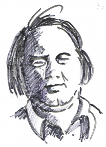 Günther Bruno Fuchs. Zeichnung: Alfons Schweiggert