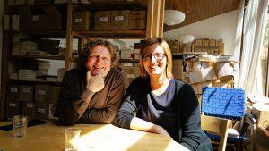 Anton G. Leitner und Verlegerin Kristina Pöschl im lichtung verlag, Viechtach. Foto: DAS GEDICHT