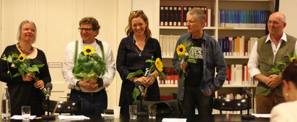 Sabine Zaplin, Anton G. Leitner, Dagmar Taylor, Richard Dove und Bill Soutter. Foto: Jan-Eike Hornauer