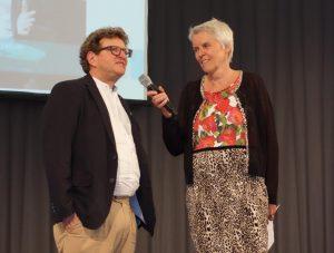Anton G. Leitner und Sabine Reithmeier bei der Verleihung des Tassilo-Kulturpreis 2016 der Süddeutschen Zeitung am 11. Juli 2016.