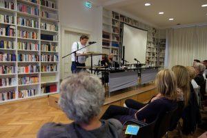 Anton G. Leitner und Sabine Zaplin. Foto: Maren Martell