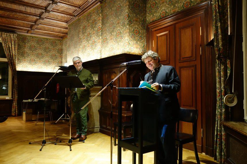 Georg Maria Roers und Anton G. Leitner im Literaturhaus Berlin. Foto: DAS GEDICHT