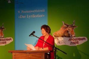 Regine Juhls (Teilnehmerpreis). Foto: DAS GEDICHT