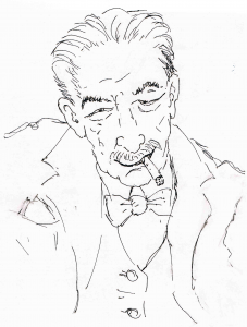 Alfred Polgar. Skizze von Alfons Schweiggert
