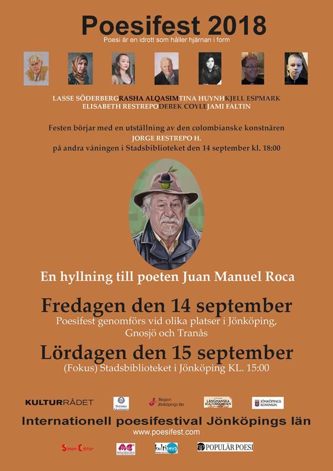 Poesifest 2018 Jönköping län (Foto Internationell Poesifestival Jönköping län, Schweden)