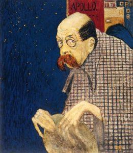 Peter Altenberg. Portrait von Gustav Jagerspacher, 1909
