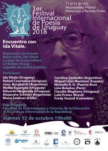 Poesiefestivalplakat, Uruguay 2018