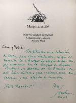 Handschrift von Ida Vitale