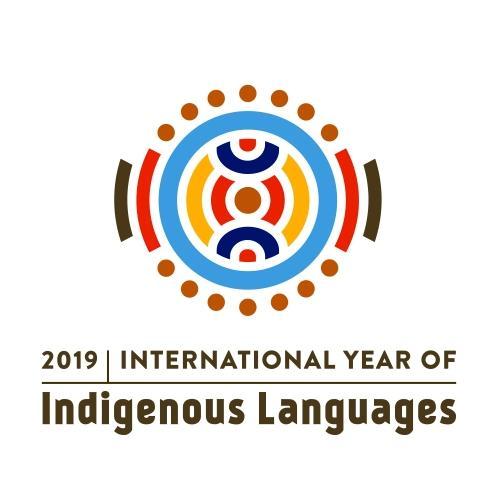 Logo der UNESCO zum Internationalen Jahr der indigenen Sprachen 2019