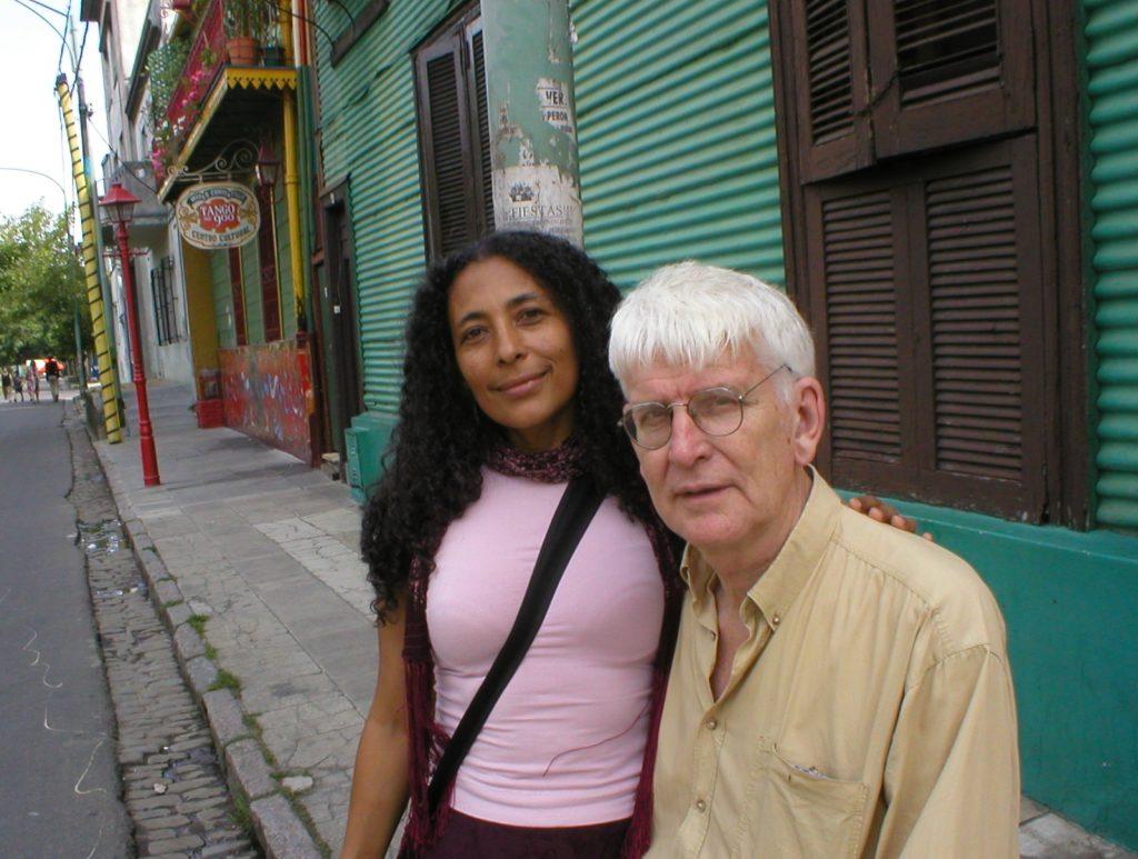 Lasse Söderberg mit seiner Frau Ángela García in Buenos Aires