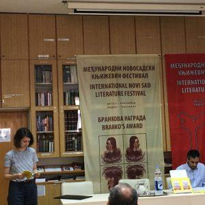 Lesung der Poetin Kristina Milosavljevič zur 59. Brankova-Preisverleihung