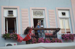 Absolut-Balkonlesung von Tobias Burghardt (Foto Ilja Andrejewitsch Kozlov, St. Petersburg)
