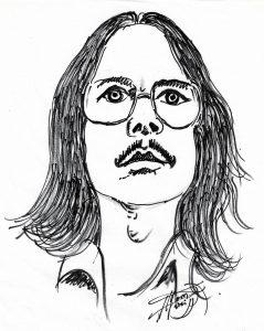 Peter Handke gezeichnet von Alfons Schweiggert