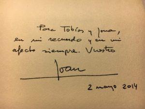Handschrift von Joan Margarit