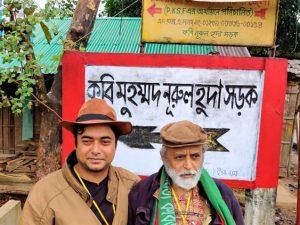 Rishad Huda & Mohammad Nurul Huda an der Poesiestraße von Cox's Bazar