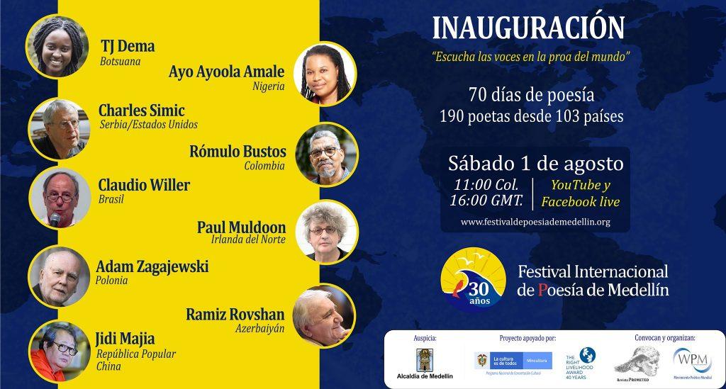 Festivaleröffnung am 1. August 2020 in Medellín