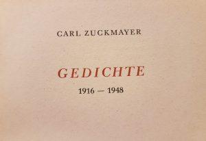 """Titelseite """"Gedichte 1916 – 1948"""" von Carl Zuckmayer"""