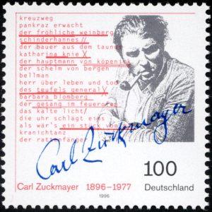 Gedenkbriefmarke Carl Zuckmayer