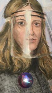 Porträt Sabine Schiffner (Gemälde von Rolf Kuhlmann9