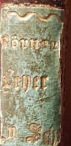"""Buchrücken """"Leyer_und_Schwert"""" von Theodor Koerner"""