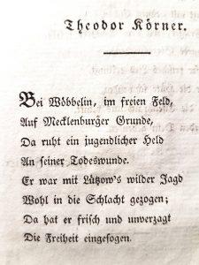 """Seite aus """"Leyer und Schwert"""" von Theodor Körner"""