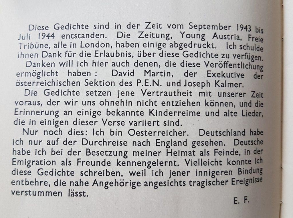 """""""Deutschland"""" von Erich Fried: Einleitung"""