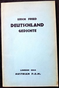 """""""Deutschland - Gedichter"""" von Erich Fried"""