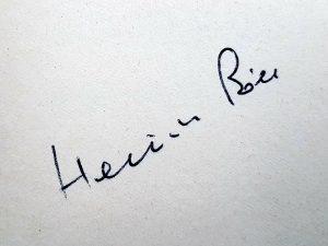 Autograph Heinrich Bölls aus der Sammlung Augustin